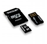 PATRIOT 64GB MICRO SDHC CLASS 10  USB ADAPTOR